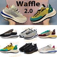 Top Quality Waffle Men Correndo Tênis XSACAI 2.0 Mens Sneakers Black White Fumo Tour Cinza Estádio Amarelo Verde Mulheres Treinadores Esportivos