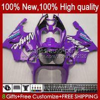OEM-Körper für Kawasaki Ninja ZX7R Lila All ZX750 1996 1998 1998 1999 2000 2001 2002 2003 BodyWorks 28hc.97 ZX 7 R ZX 750 ZX 7R ZX-750 ZX-7R 96 97 98 99 00 01 02 03 Verkleidung glänzend