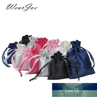 50pcs Silk Satin Drawstring Bag with Ribbon for Jewelry Hair Travel Watch Shoes Diamond Bead Ring Makeup Gift Pouch
