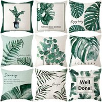 Cotton Linen Home Sofa Pillowcase Bedroom Bed Cushion Cover Plant 45*45cm Pillowcover Car Office Seat Cushion Decorative Pillow