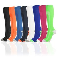 Nouveaux Sports Compression Bas Multi-Color Gradient Vente chaude Hommes et femmes Bas Bas Factory Ventes directes Chaussettes