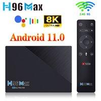 8 جيجابايت 64 جيجابايت H96 ماكس RK3566 صندوق التلفزيون الروبوت 11 4 جيجابايت 32 جيجابايت دعم 1080P 8K 24FPS جوجل تلعب Youtube H96MAX مربع التلفزيون الذكي مجموعة أعلى مربع
