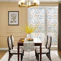 Fensteraufkleber dktie statische glas film wasserdicht opaque home selbstklebende schlafzimmer warm floral muster anti-peeping dekoration aufkleber