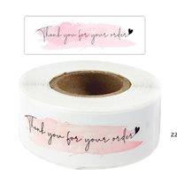 """هدية التفاف 120 قطعة الوردي """"شكرا لك على طلبك"""" ملصقات دعم عملي حزمة الأعمال الديكور ختم تسميات القرطاسية ملصقا"""
