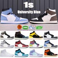 Moda 1 1S Universidad Azul Baloncesto Zapatos de Baloncesto Dark Mocha Silver Chicago Toe Light Smoke Grey UNC Patente Top 3 Hombres Mujeres Sneakers