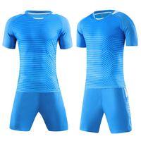 Erkek Eğitim Futbol Forması Set Profesyonel Futbol Kitleri Boş Kısa Kollu Paintless Suit Spor Tasarım Setleri