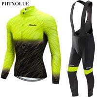 Racing Sets Phtxolue 2021 Мужчины Велосипедные Джерси Набор весенний МТБ Велосипедная одежда Велосипедная одежда ROPA