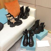Neue Stil Leder und Nylonstiefel Martin Schuhe Knöchel Kampfstiefel Für Frauen Abnehmbare Tasche Black Lady Outdoor Booties Schuhe