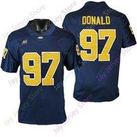Pittsburgh Panthers Football Jersey NCAA College Aaron Donald Navy Größe S-3XL Alle genähten Jugend Männer