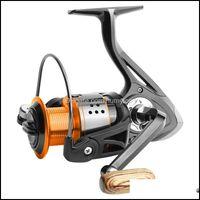Makaralar Spor Outdoorsbishing Fa1000-6000 Hiçbir Boşluk Metal Makarası Max Sürükle 8Kg Pike İplik Yüksek Hız 5.2: 1 Reel Olta Takımı Pesca Bırak Deliv