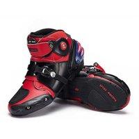 Homens Mulheres Botas de Motocicleta Motocross Profissional Corrida Sapatos Motociclista Motociclista Rider Riding Riding Boot Moto Zapatos A9003