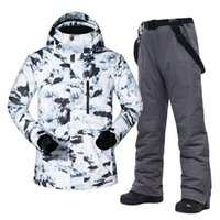 스키 자켓 Grote Maat Heren Smipak-30 Temperatuur Waterdicht 따뜻한 겨울 Alpinisme Sneeuw 스노우 보드 Jassen En Broek 세트