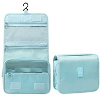 Storage Boxes & Bins Hanging Toiletry Bag With Hook Folding Travel Make Up Cosmetic Kit Organizer Splash Proof For Women Men MYDING