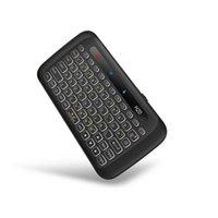 Сенсорный двухсторонний мини-беспроводная клавиатура Полноэкранная сенсорная панель 3 поэтапная регулируемая задняя подсветка Автоматическая вращающаяся клавиатура
