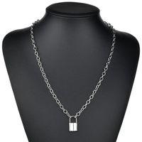 Pendant Necklaces Gold Silver Color Padlock Necklace Chain Men Women Lock Fashion Jewelry