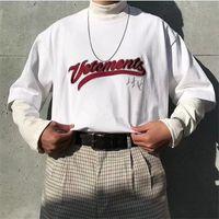 Weiß Schwarz Rot Stickerei T-Shirt Männer Frauen 1 Qualität Übergroßen schwere Stoff T-Stück Tops