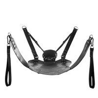 Cuir sexy hamac portant double couches de charge cuir swing chaise sexe meubles sexe sling lit oreiller sex toys