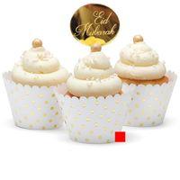 Rose Gold EID Мубарак торт Топеры Серебряный Рамадан Мубарак Торт Выпечки Топпер для Eid Mubarak Party Cipcake Украшения поставки LLA5427