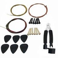22pcs Kit de accesorios de guitarra Piezas Piezas Pegaciones cadenas 3 en 1 cuerda de cuerda cortadora al aire libre