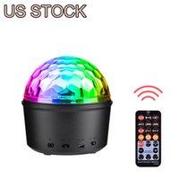 US Stock LED-effekter Bluetooth Speaker Strobe Party Lights, USB Powered Night Lamp, 9 färger Ljud aktiverat scenlampa med fjärrkontroll för barn sovrum