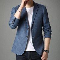 Jovens e de meia idade homens puro terno primavera outono fino casual blazer jaqueta único estilo ocidental ternos blazers