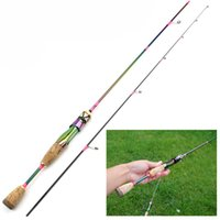 Boat Fishing Rods 1.8M Lure Rod Ul Power Slow Spinning Casting Solid Tip Pole Weight 3-7g Woman Using Carbon Colorful Pesca