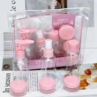 Портативный пластиковый мини прозрачный путешествия косметическая бутылка точка розлива набор высокого качества PP покрасневшие бутылки хранения банки