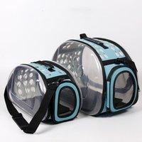 Produtos para animais de estimação Moda portátil transparente saco Dobrável de gato respirável portadores de cão, casas de caixas