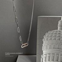 خمر فاسق الفولاذ المقاوم للصدأ ورقة مقطع عدم التباين سلاسل معدنية إلكتروني 8 قلادة القلائد للمرأة المختنق مجوهرات المختنقون