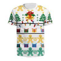 망 티셔츠 크리스마스 인쇄 티셔츠 남성 여성 브랜드 슬림 피트 짧은 소매 티셔츠 하라주쿠 힙합 캐주얼 탑스 티셔츠 셔츠