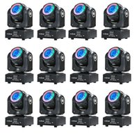 Effetti 12 PZ RGBW 4 IN1 Mini LED LED 60 W Mobile Spot Spot Fascio Luce del palcoscenico con RGB 3 in 1 Effetto misto striscia per DJ Professional DJ Disco