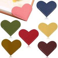 Bookmark Arrival Love Leather 6*5.3cm Heart Bookmarks Vintage Mini Corner Page Marker Reader Teacher Gift