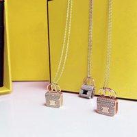 Mode Anhänger Halsketten für Frau Halskette Schmuck Tasche Stein Anhänger Gute Qualität 3 Farbe mit Geschenkverpackung