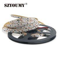 2835 120LED / M 5 M 600 LED Striplight DC 12 V Esnek Şeritler 5mm Genişlik Beyaz / Sıcak Beyaz / Mavi / Kırmızı / Yeşil / Sarı