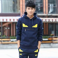 Masculinas Tracksuits Primavera e Outono Grande Tamanho Suaves Juventude Pullover Sweater Little Monster Coreano Hoodie Casual Sportswear