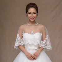 Wraps & Jackets Off The Shoulder Wedding Jacket Wrap Bridal Bolero Lace Beaded Shawl Bride Coat Accessories Custom Made
