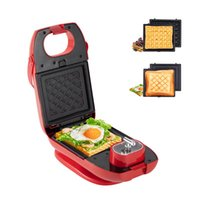 Baking Moulds Mini Waffle Breakfast Sandwich Maker With Timer, 3-in-1 Detachable Non-stick Coating, Double-sided Heating, Non-slip Feet