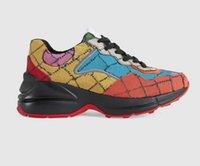 2021 디자이너 럭셔리 신발 여러 가지 빛깔의 시리즈 Rhyton 남성 여성 숙녀 캐주얼 신발 운동화 상자 크기 35-45