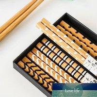5 par set pekade ätpinnar sushi katt blomma för att äta kök gadgets chopsticks porslin