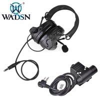 COMTAC-II / C2 Gürültü Azaltma Taktik Kulaklık Z041 Kulaklık Kulaklık Ile U94 PCable Fiş Z113 Kenwood 2 Pin Radyo Aksesuarları Için