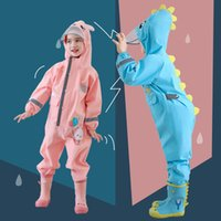 75-120CM Waterproof Raincoat For Children Kids Baby Rain Coat Poncho Boys Girls Siamese Suit