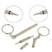 Llavero tornillo llavero anillo gafas destornillador vidrio destornillador Ecigs vapor reloj reparación portátil bricolaje herramienta de mano OWB6039