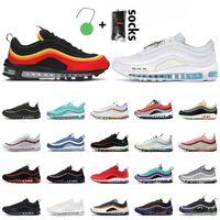 2021 Moda 97 Koşu Ayakkabıları Hanshin Kaplanlar MSCHF X Inri İsa Sneakers Üçlü Beyaz Siyah Acg Terra Dünya Çapında Koşu Spor Eğitmenleri