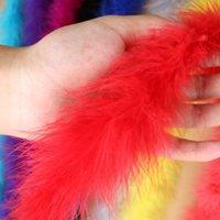 Parti Dekorasyon Çapı 6 CM 2 M / PCS Kabarık Türkiye Tüyler Boa Marabou El Sanatları Şerit Carnival Kostüm Plume Için Siyah Beyaz Tüy