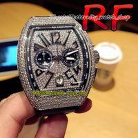Edernity Sport Watches RF V2 نسخة رجالية مجموعة رجالية V5 اليابان Miyota كوارتز حركة كرونوغراف ادور من الجبسوفيلا الماس الطلب رجل ووتش الماس حالة المطاط