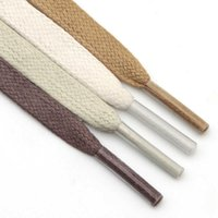 Trendy New 8MM Waxed Flat Laces Waterproof Durable 120cm White Beige Red Lady Boots 100% Cotton Lacets for AF1 Queen white shoes