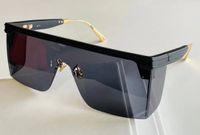 Dikdörtgen Maske Güneş Gözlüğü Mat Siyah Gri Gafa De Sol Unisex Moda Güneş Gözlükleri Shades UV400 Koruma Gözlük Kutusu Ile