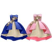 Girl's Dresses Girls Kids Wedding Bridesmaid Dress Birthday Flower Sleeveless Children Casual Outwearing Ball Gown Clothes