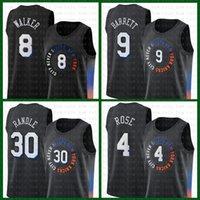 "Kemba 8 Walker Pallacanestro Jersey Nuovo ""York"" Knicks ""Mens 2021 New RJ 9 Barrett Patrick 33 Ewing Julius 30 Randle Derrick 4 Rose Contrast Color"