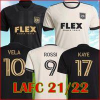 MLS 2021 2022 LAFC Jerseys de football noir 21 22 Rossi Vela Kaye Moon-Hwan Los Angeles FC Joueurs pour changement Black Out Édition limitée Version football de football